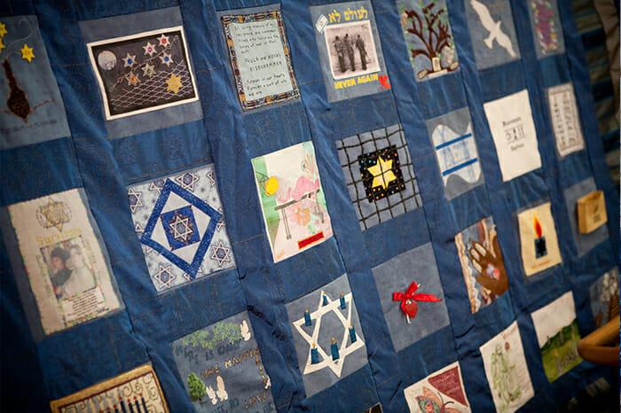 closeup of quilt