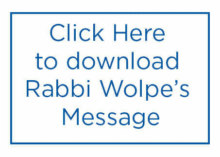 Rabbi Wolpe's message for download and print