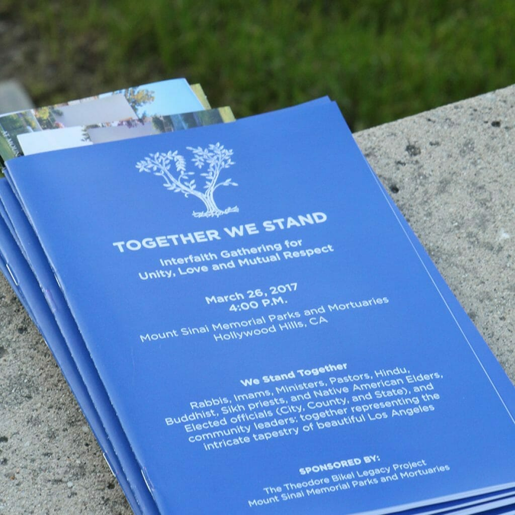 Together We Stand Interfaith Gathering Program