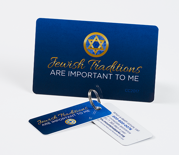 Jewish Traditions are important to me key chain and card
