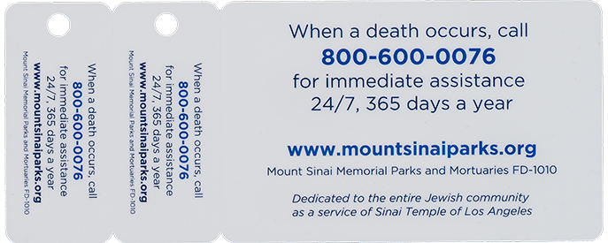 When a death occurs, call 800-600-0076 for immediate assistance 24/7, 365 days a year