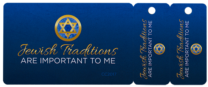 Jewish Traditions are Important to Me - credit card size
